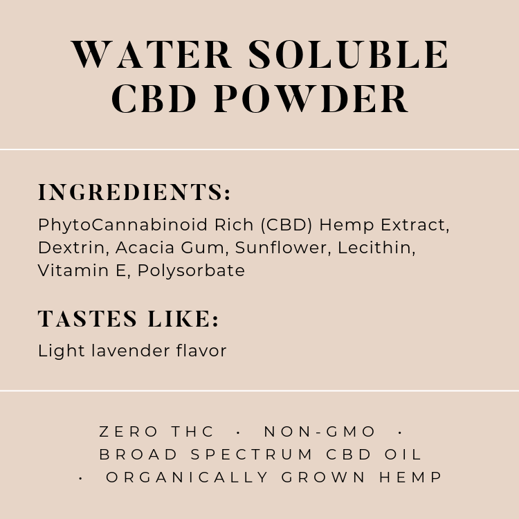 Water Soluble CBD Powder - The Herbalist Bros
