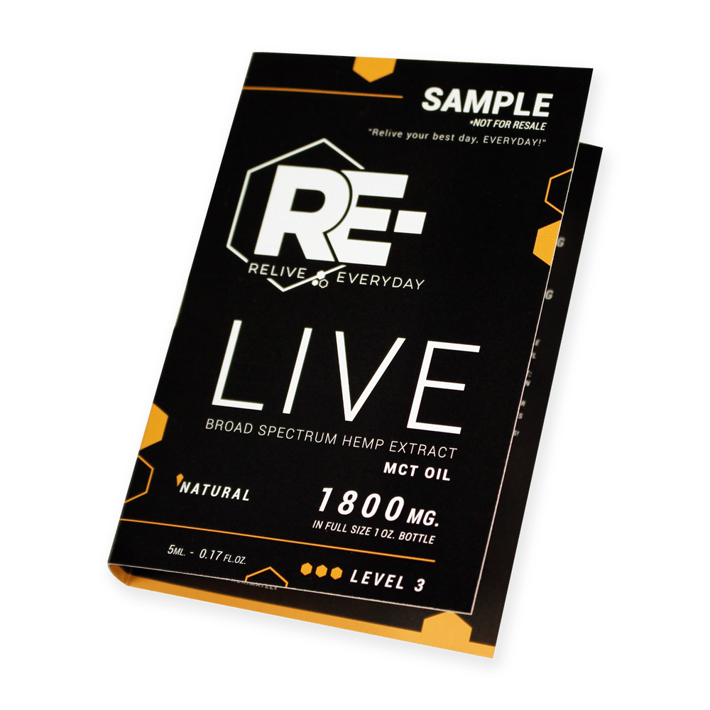 Relive Everyday – RE-LIVE – 1800mg – Natural – SAMPLE