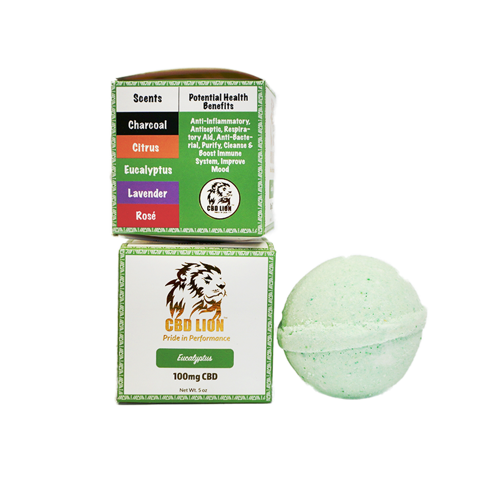 100MG CBD BATH BOMB - 5 Scents!