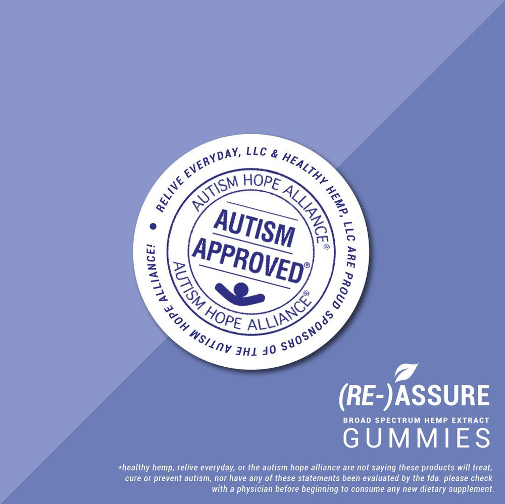 RE-ASSURE Vegan CBD Gummies 10/20/30mg Per Gummy (Broad Spectrum)