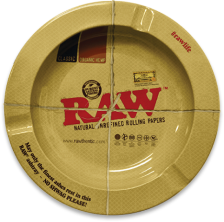 RAW Metal Ashtray - The Herbalist Bros