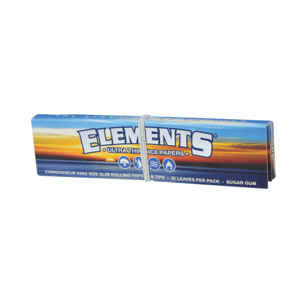 Elements Connoisseur King Size Slim Papers + Tips - The Herbalist Bros