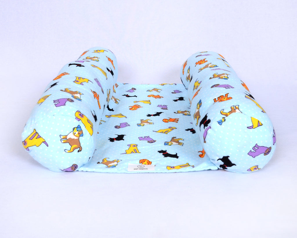 Baby Bumpers Newborn Lounger - Blue Puppies