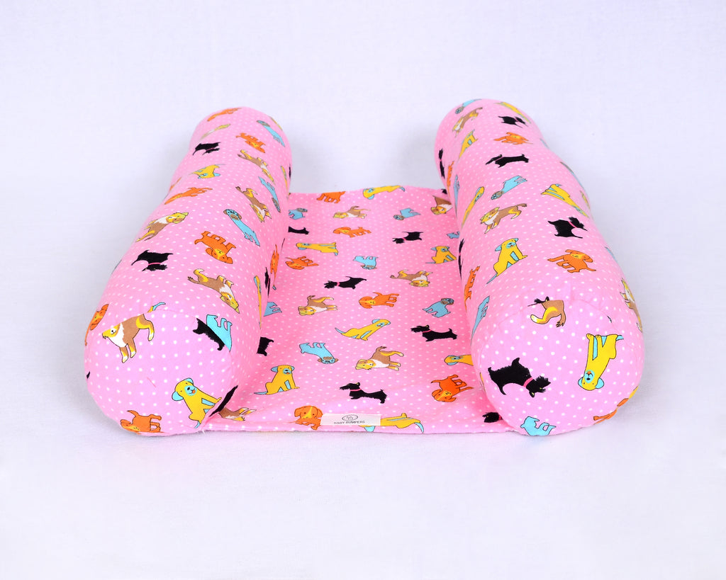 Baby Bumpers Newborn Lounger - Pink Puppies