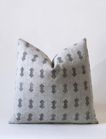 Prism Cushion - Kohl / Flax