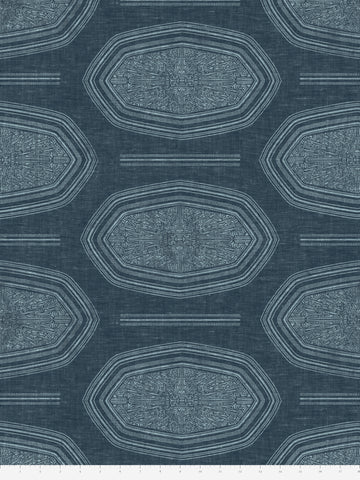 Kamba Fabric in Indigo Duo