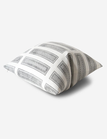 Temple II Cushion - Kohl / Oyster