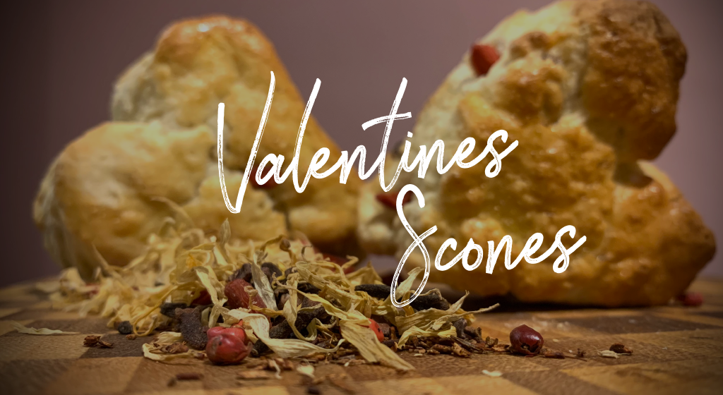 Valentines Tea Infused Goji Berry Scones
