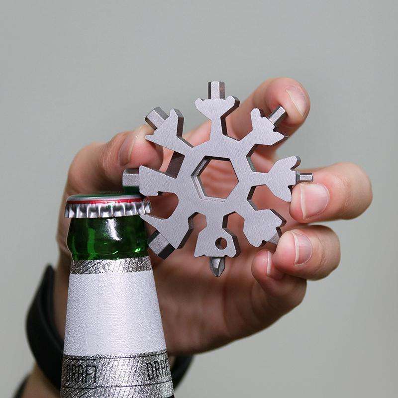 Amenitee® 18-in-1 stainless steel snowflakes multi-tool
