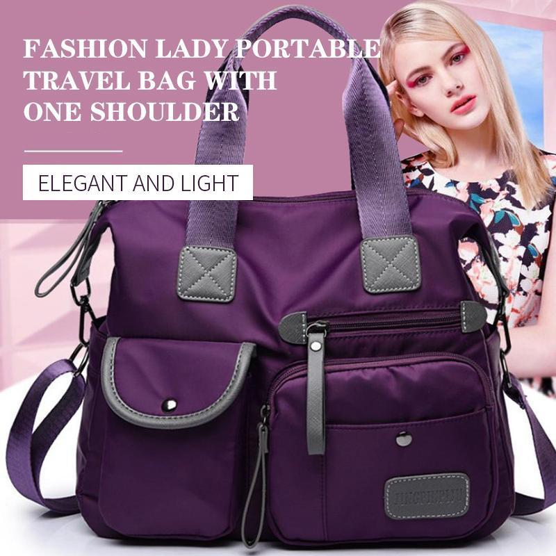 Fashion lady Portable travel bag with one shoulder