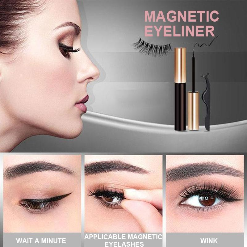 Eyelashes for magnetic eyeliner