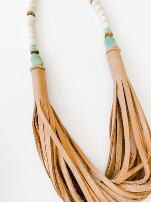 The Daly Necklace - Fall Beige| Scarab Leather