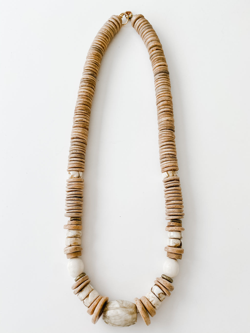 Sea to Sand - Fall Neutral Statement Necklace