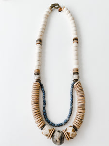 Sea to Sand - Fall Neutral Double Strand Necklace