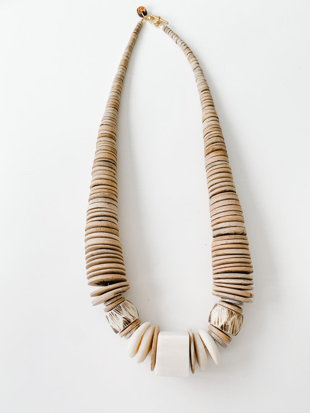 Sea to Sand - Fall Neutral Graduated Statement Necklace