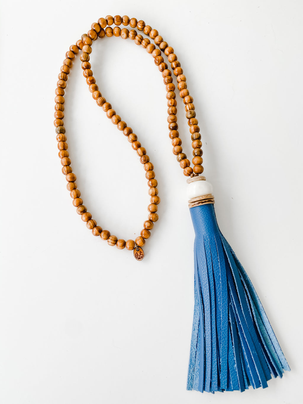 Fall Leather Tassel - Peacock | Tobacco