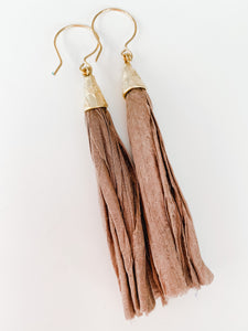 Sari not Sari Earrings - Taupe