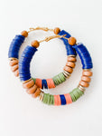 Born to be Wild -  Fall Multi Color Hoop Earrings