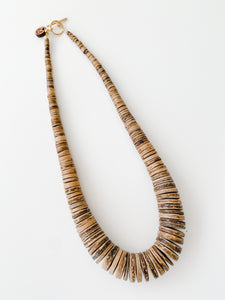 Simply Stated-  Fall Coconut Necklace