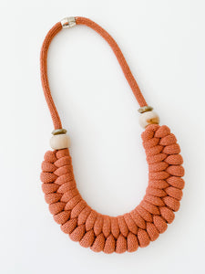 The Knot Today Necklace -Fall Rust
