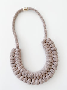 The Knot Today Necklace -Fall Taupe