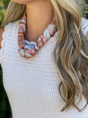 Born to be Wild - Fall Linen Scarf Necklace