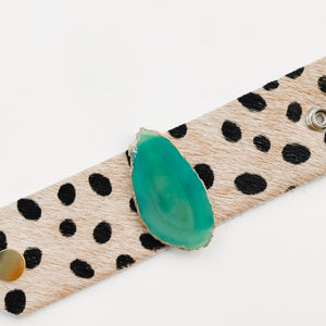 Green Agate Cheetah Cuff - A HS Favorite