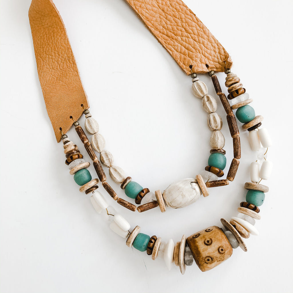 Sea to Sand Spring Multi Strand Necklace