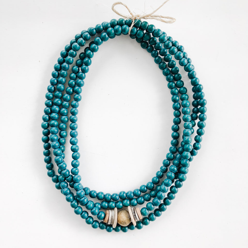 Simply Stated Wrap Necklace in Teal - A Fall Favorite