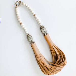 The Daly Necklace - Summer Scarab Beige