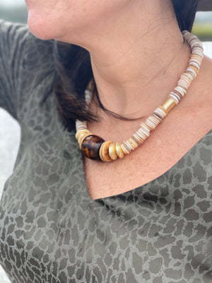 Sea to Sand  -  Fall Shell Statement Necklace
