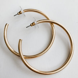 Finer Things Earrings- Brushed Gold