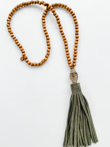 Fall Leather Tassel - Olive | Tobacco