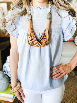 The Daly Necklace - Spring Beige + Scarab