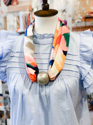 Born to be Wild - Colorful Paint Splashes Scarf Necklace