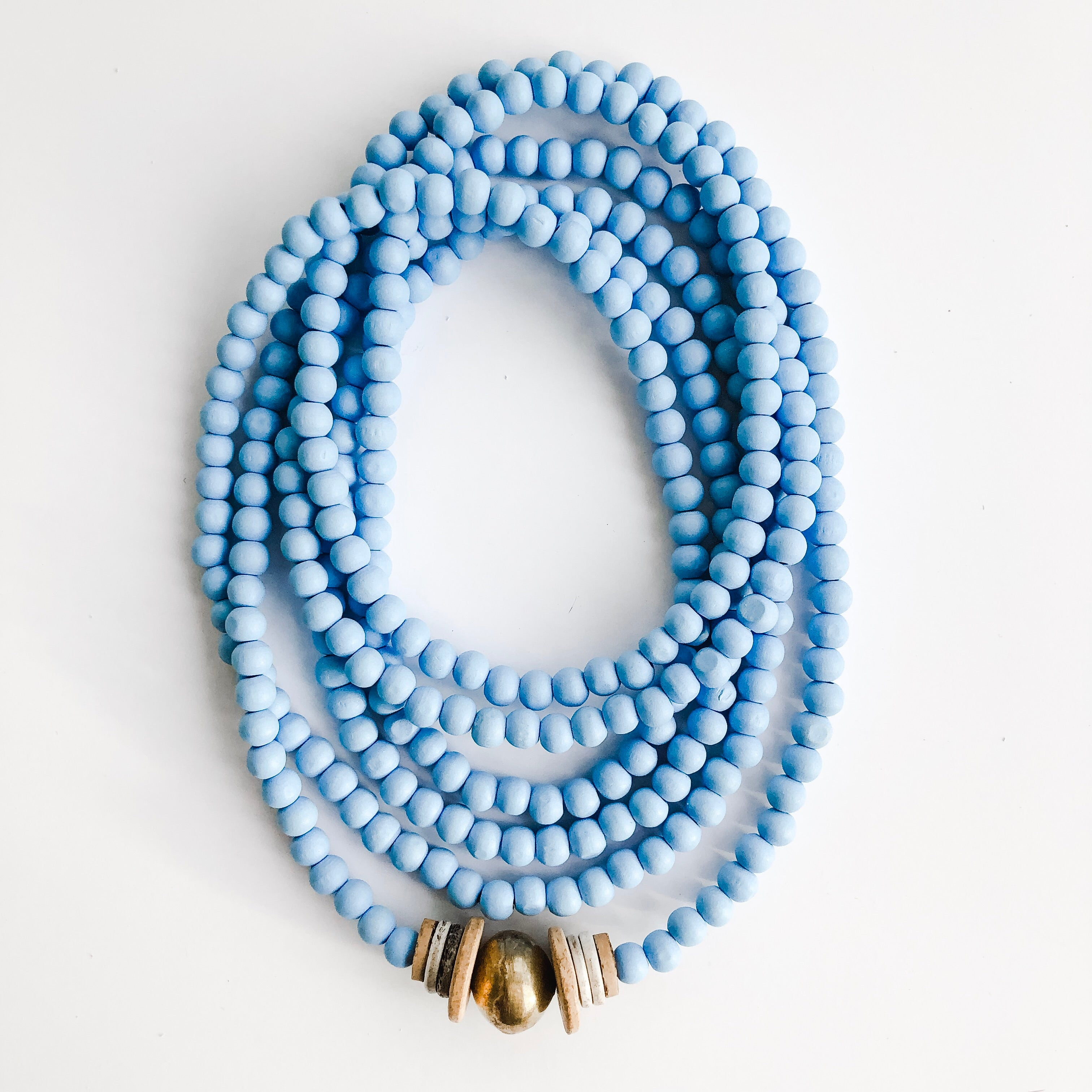 Simply Stated Wrap Necklace in Light Blue