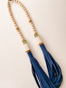 Sea to Sand Daly Necklace - Navy Suede Leather