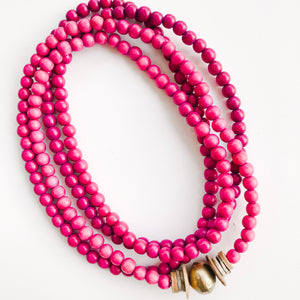 Simply Stated Ombré Wrap Necklace in Shades of Fuscia