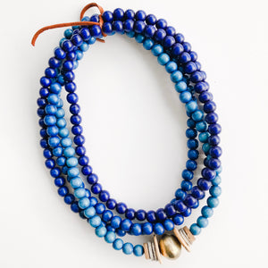 Simply Stated Ombré Wrap Necklace in Shades of Blue