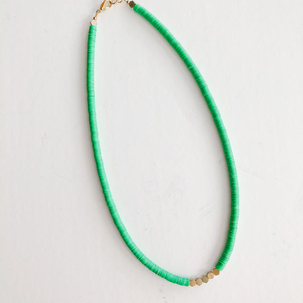 Born to be Wild - Katie Necklace in green