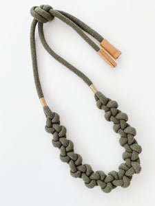 The Knot Today Adjustable Necklace - Fall Olive