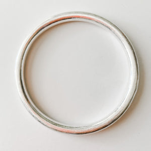 Finer Things Bangle- Single Brushed Silver