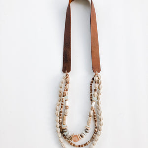 Sea to Sand Triple Twist Necklace | Leather Strap