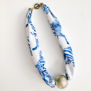 Born to be Wild - Zebra Scarf Necklace