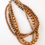 Multi Strand Necklace - Tobacco