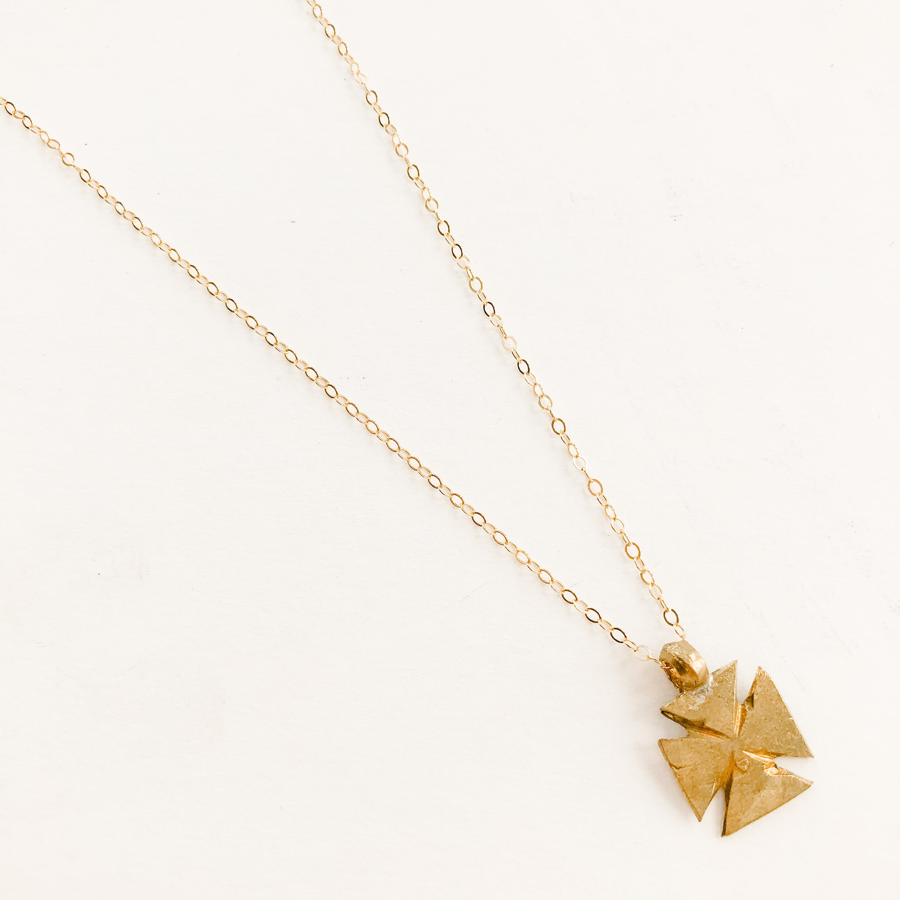 Finer Things Necklace - Simple Brass Cross Pendant | Chain