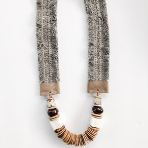 Fall Lolita Necklace - Grey Fringe