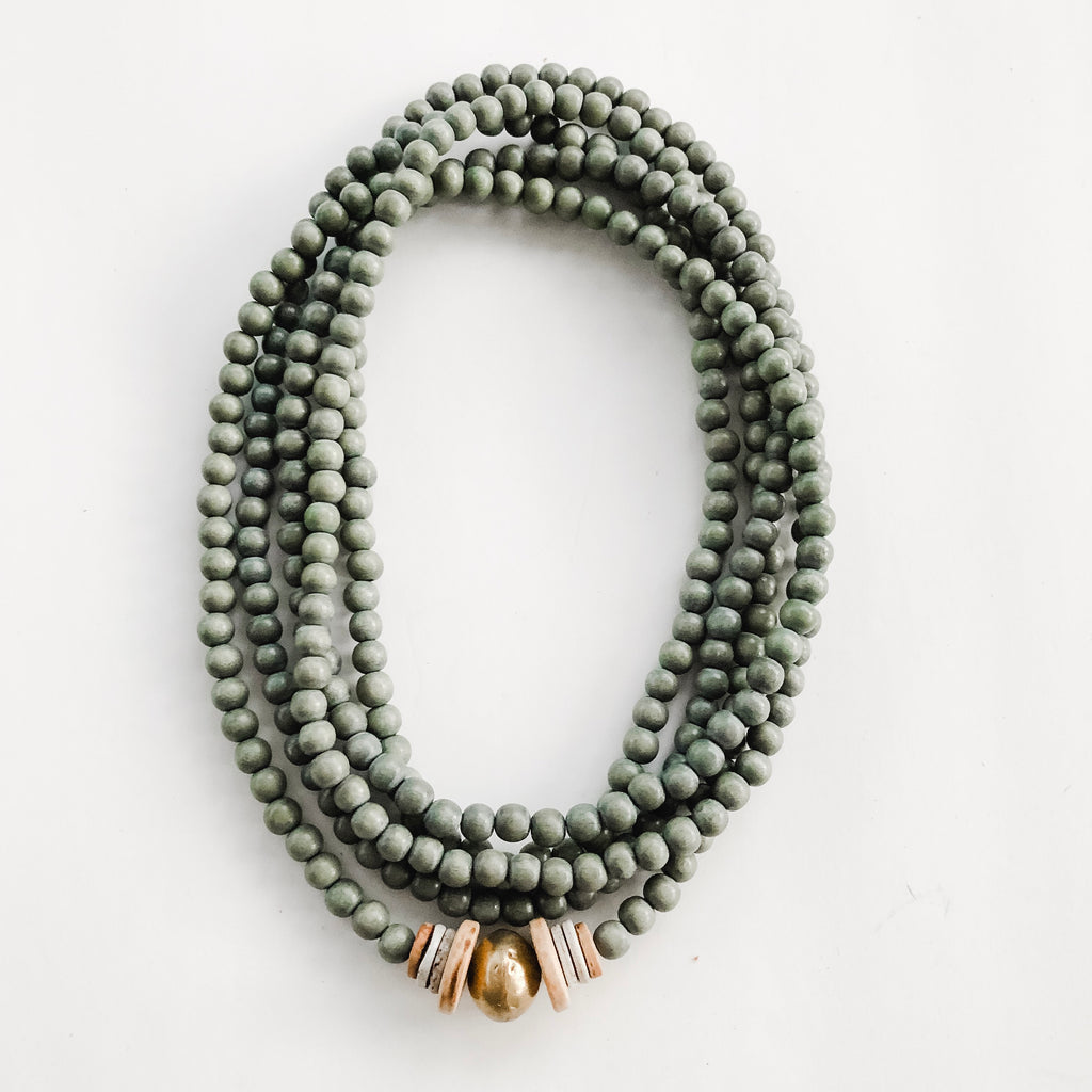 Simply Stated Wrap Necklace in Grey - A Fall Favorite