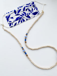 Blue/White Happiness Lanyard