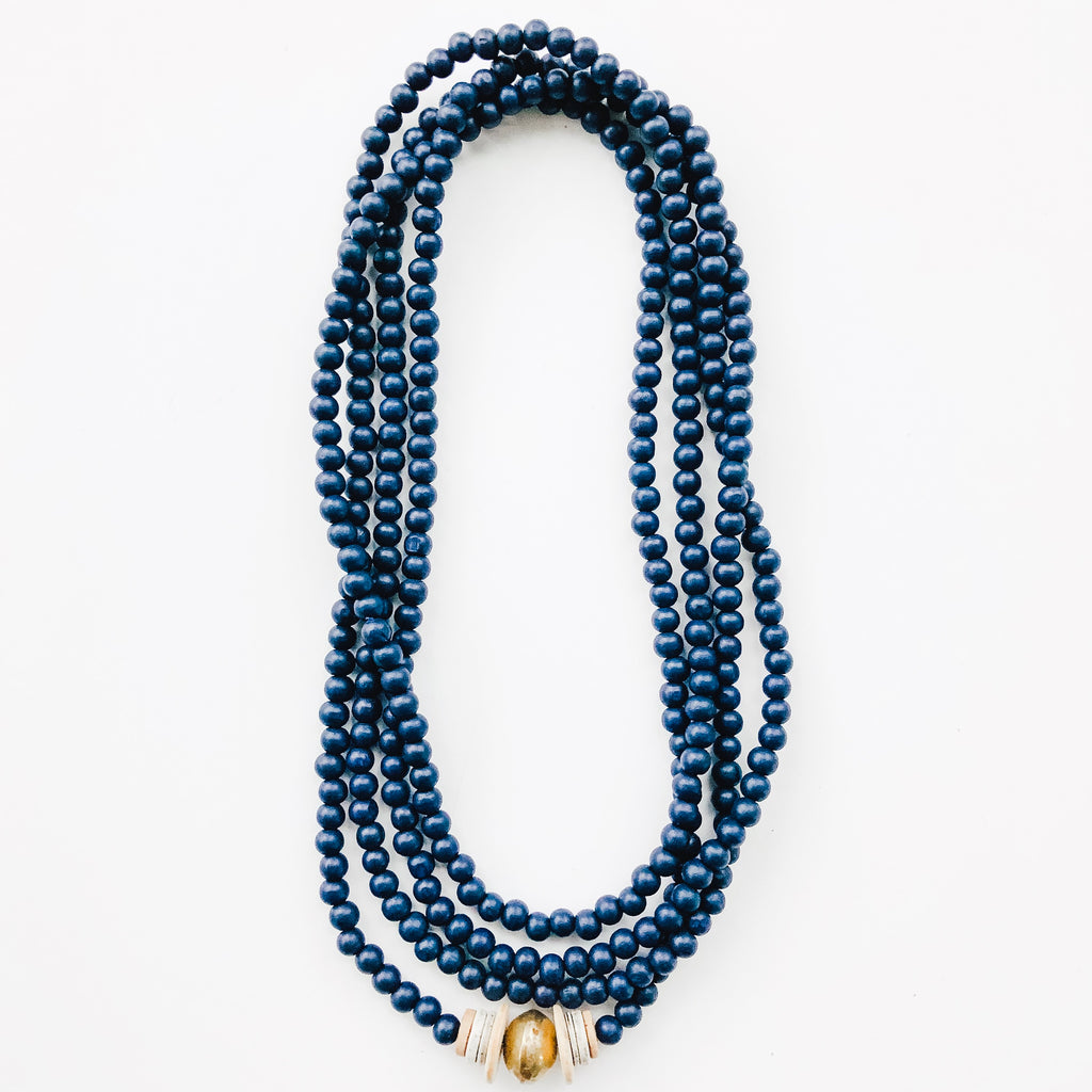 Simply Stated Wrap Necklace in Navy - A Fall Favorite